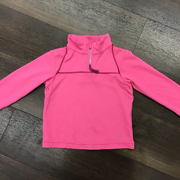 NEW Under Armour Toddler Girl/'s Blue Pink Zip Fleece Sweater Pullover Top 3T